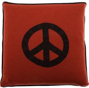 Armand Diradourian Peace Sign Pillow- Red