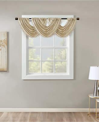 "SunSmart Cassius 46"" x 38"" Marble Jacquard Window Valance"