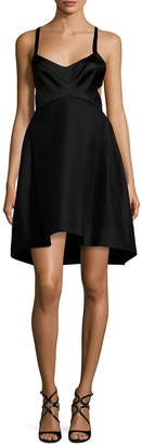 Halston Fitted Sweetheart Dress