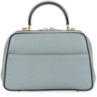 Valextra Saffiano Medium Top Handle Bag
