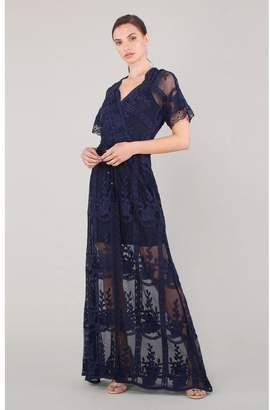 Hale Bob Artemisia Embroidered Mesh Dress