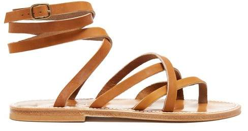 K. Jacques Zenobie wraparound leather sandals