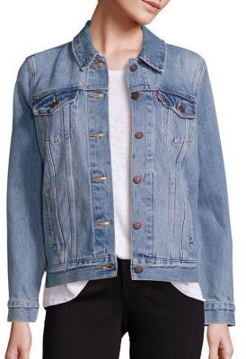 Levi's Denim Boyfriend Trucker Jacket $90 thestylecure.com