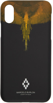 Marcelo Burlon County of Milan Black Glitch Wings iPhone X Case