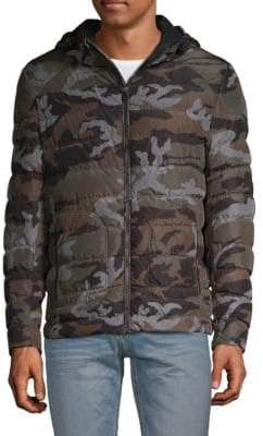 Belstaff Camouflage Quilted Down Jacket