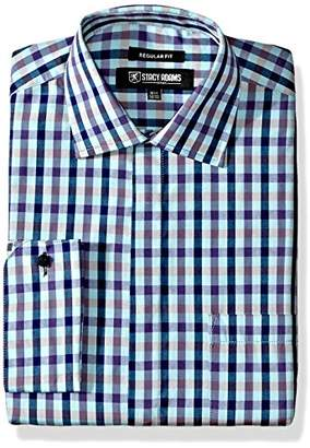 Stacy Adams Men's Multi Color Gingham Classic Fit Dress Shirt