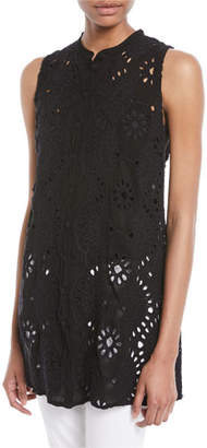 Johnny Was Marieta Sleeveless Long Eyelet Tunic