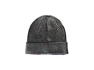 Steve Madden Solid Metallic Cuff Hat