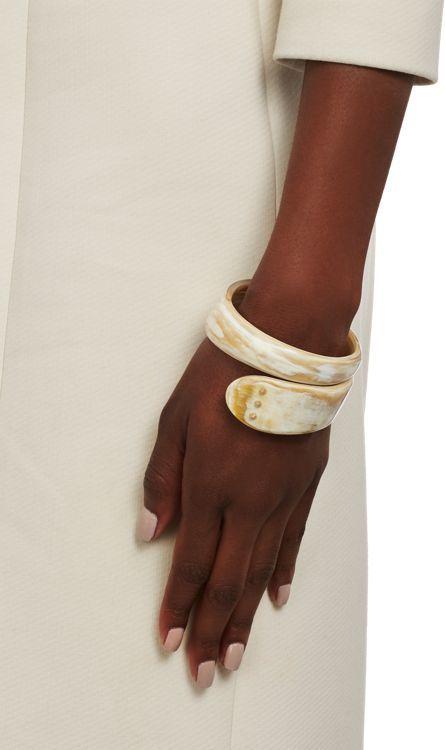 Monique Péan Women's Gold & Buffalo Horn Studded Bangle-Colorless
