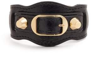 Balenciaga Classic Metallic Edge leather bracelet