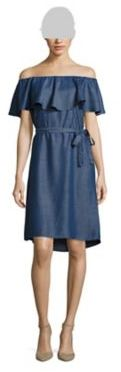 Lord & Taylor Off-The-Shoulder Chambray Dress $120 thestylecure.com