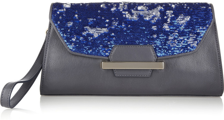 Bag Snob for DKNY The Clutch sequined leather bag