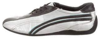 Barbara Bui Metallic Low-Top Sneakers