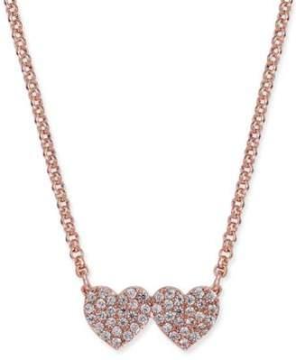 Kate Spade Pavé Double-Heart Pendant Necklace