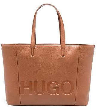 Tote bag in softly structured grainy Italian leather BOSS O9sWL