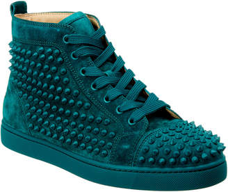 Christian Louboutin Louis Spikes Suede Sneaker