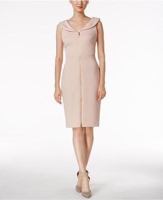Calvin Klein Portrait-Collar Sheath Dress $89.98 thestylecure.com