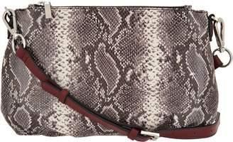G.I.L.I. Got It Love It G.I.L.I. Italian Leather Pleated Double Zip Crossbody