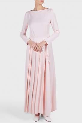 Cédric Charlier Long Sleeve Slit Dress