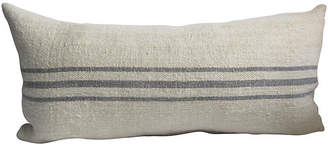 One Kings Lane Vintage French Linen Striped Body Pillow - AntiqueLifestyle