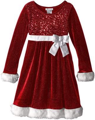 Bonnie Jean Big Girls' Little Miss Holiday Dress