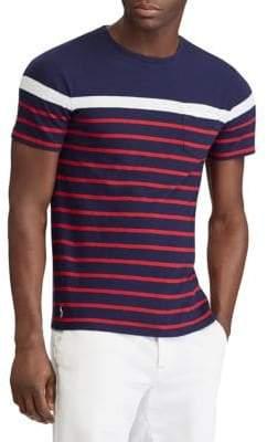 Polo Ralph Lauren Navy Striped Slub Jersey Tee