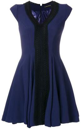 Plein Sud Jeans fitted V-neck dress