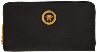 Versace Black Medusa Tribute Continental Wallet