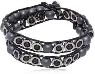Lava & Hematite Beads Wrap Bracelet