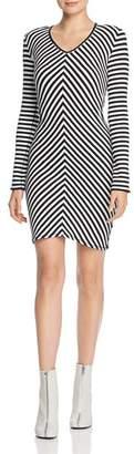 Rag & Bone Halifax Striped Rib-Knit Dress
