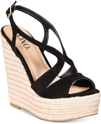 XOXO Sabeen Espadrille Wedge Platform Sandals Women's Shoes