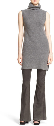 alice + olivia &Fay& Side Slit Ribbed Wool & Cashmere Turtleneck Tunic $250 thestylecure.com