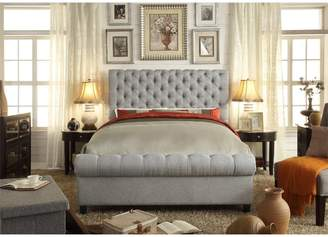 Mulhouse Furniture Calia Queen Upholstered Panel Bed