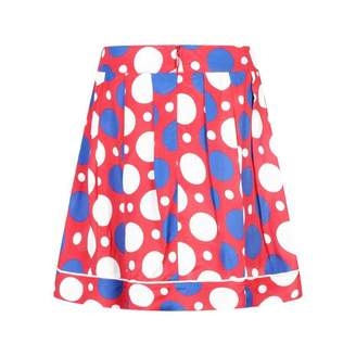Marni MarniGirls Red Spotted Silk Skirt