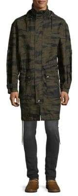 Diesel Camouflage Cotton Overcoat