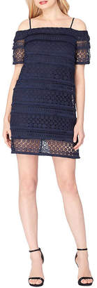 Tahari by Arthur S. Levine Tahari Asl Lace Cold-Shoulder Dress