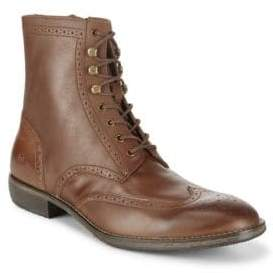 Andrew Marc Hillcrest Wingtip Leather High-Top Boots