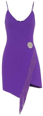 David Koma Stretch wool-blend minidress
