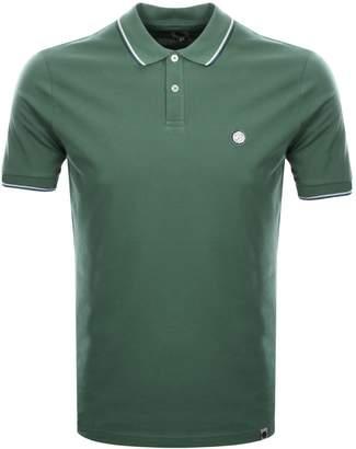 Pretty Green Barton Tipped Polo T Shirt Green