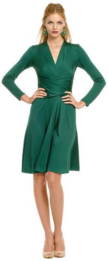 Issa Green Royal Wrap Dress