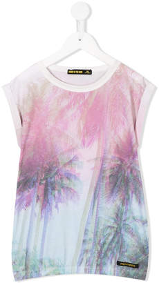 Finger In The Nose palm tree print tank top