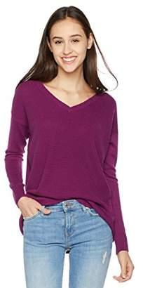 True Angel Women's V-Neck Long-Sleeve Pullover M