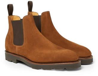 John Lobb Lawry Suede Chelsea Boots - Men - Brown