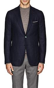 Isaia Men's Cortina Wool-Blend Two-Button Sportcoat - Navy