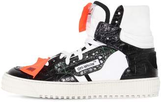 Off-White 20mm Low 3.0 Croc Embossed Sneakers