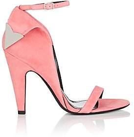 Calvin Klein Women's Leititia Suede Sandals-Pink Size 6