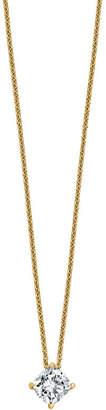 FINE JEWELRY Womens 1 CT. T.W. White Moissanite 14K Gold Square Pendant Necklace Set
