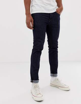 Selected skinny fit jeans in dark blue wash