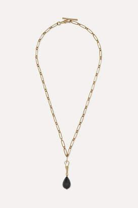 Pascale Monvoisin Debbie N°2 9-karat Gold Obsidian Necklace