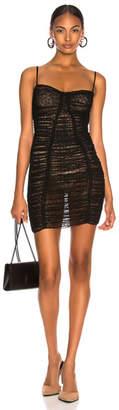 Alexander Wang Ruched Sheer Bodycon Dress